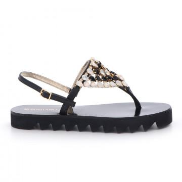sandalen damen positano 4911vit nero 3401