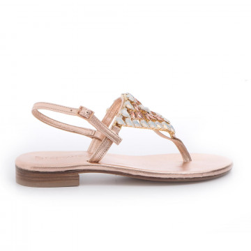 sandalen damen positano 4911lam rame 3403