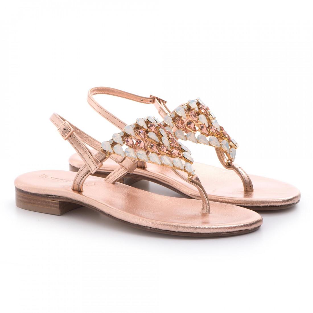 sandals woman positano 4911lam rame 3403