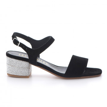 sandals woman les etoiles s172c8415silk nero 3394