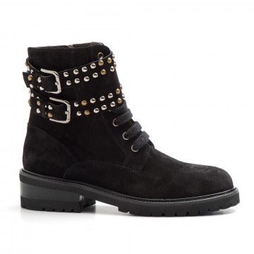 military boots woman via roma 15 2889velour 3606