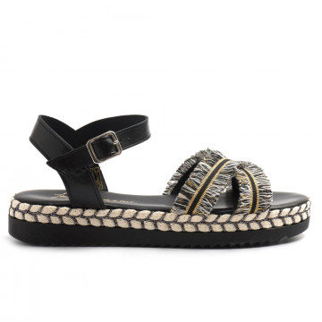 sandals woman le barbottine  1002cam nero 3274