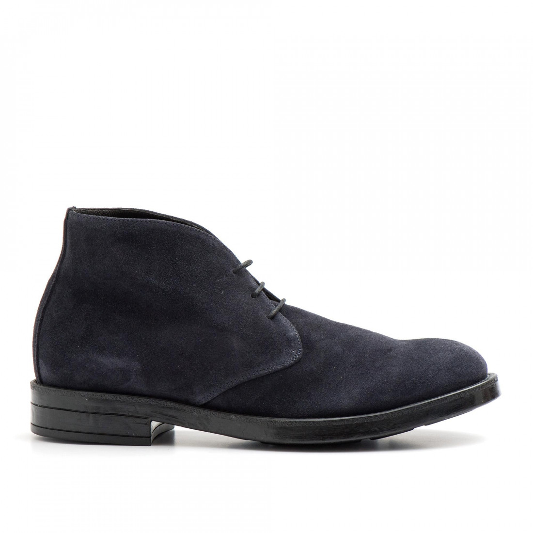 lace up ankle boots man eveet 18621camoscio blu 3806