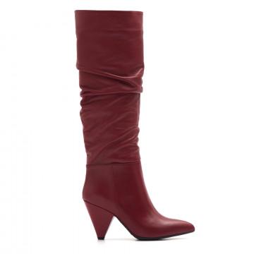 boots woman sangiorgio 6141st 73995piuma rosso 3871