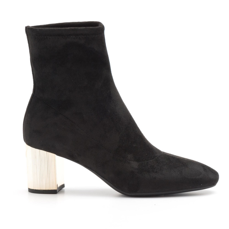 945a27d712bf Black stretch suede Michael Kors Paloma booties