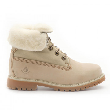 booties woman lumberjack sw00101016 ca003 cream 3890