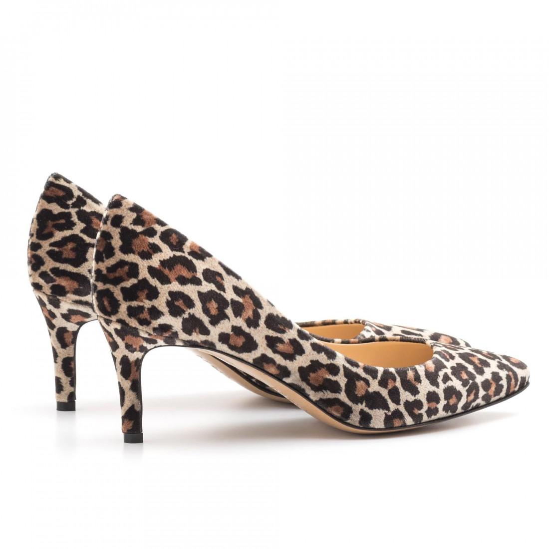 pumps woman larianna de 1111leopardo taupe 3905