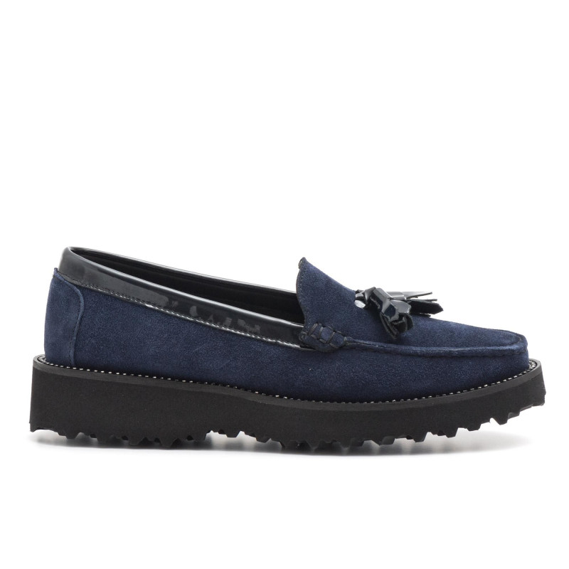 61480bd8f ... soft blue suede mocassins with tassels. loafers woman vittoria mengoni  881821 velour blu 3913