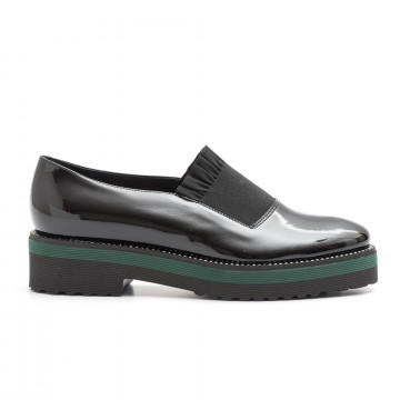 slip on woman luca grossi e171vernice nera 3935