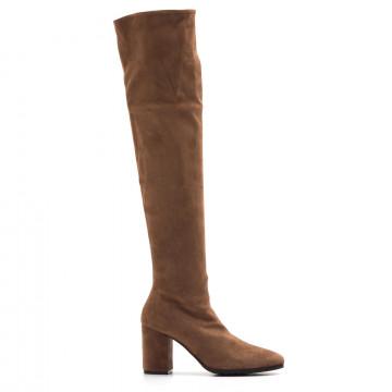 boots woman lorenzo masiero w1952084119 velour acero 3870