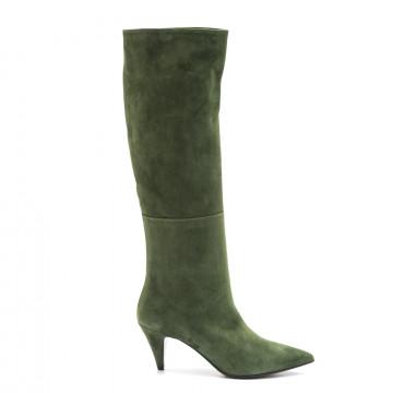 boots woman lorenzo masiero w195572 camoscio verde 3903