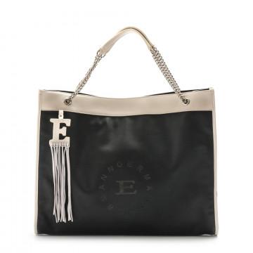 shoulder bags woman ermanno scervino 12400716esmeralda blk wht 4220