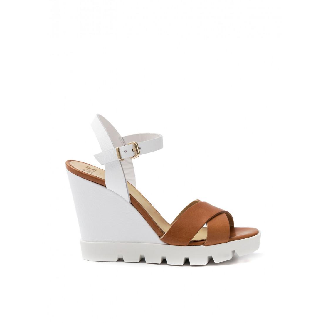 sandals woman sax 27701 bima maine cuoio 530