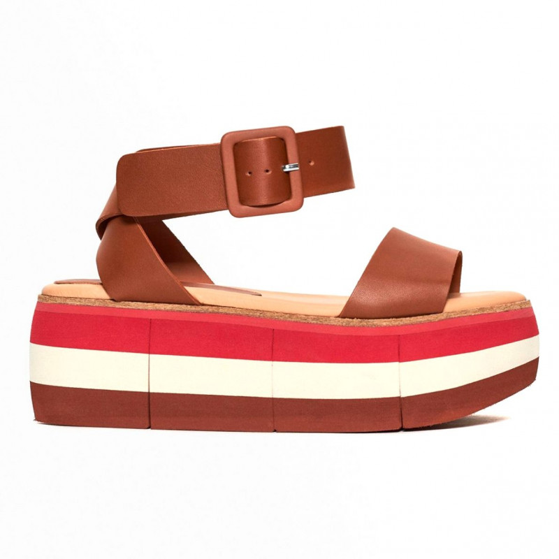 best loved 1d903 db4c6 Cuir Paloma Barcelo Manami wedge sandals