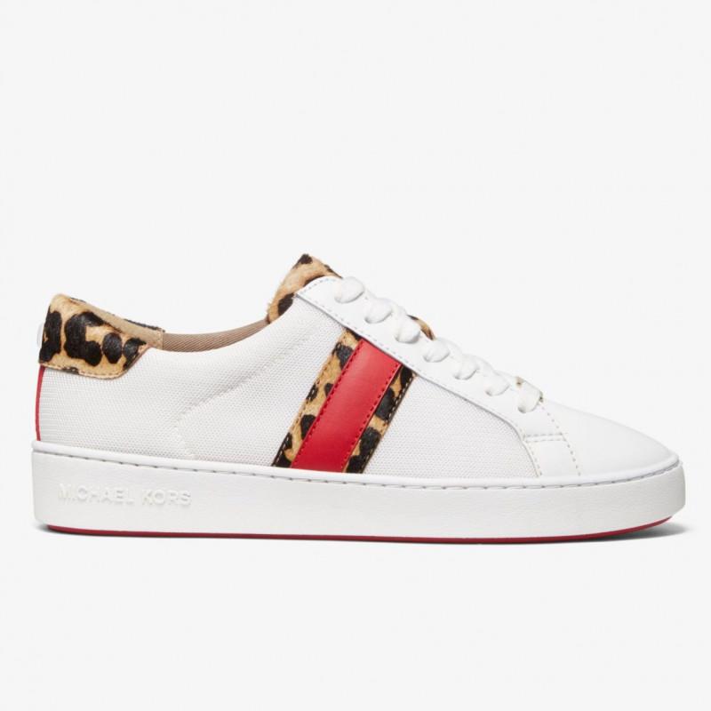 69780d23739714 Irving Mesh and Cheetah Calf Hair Stripe Sneaker