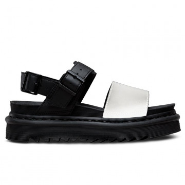 sandals woman drmartens dmsvosbwhl24628009voss blk white 4280