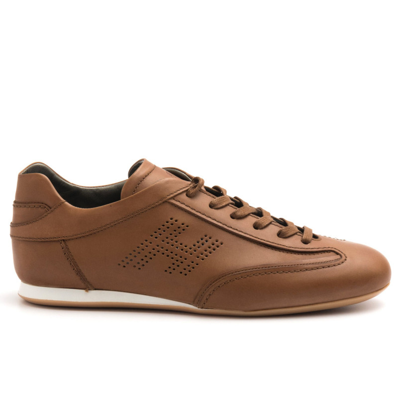 regarder 7b297 2ae28 Light brown Hogan Olympia sneakers in leather