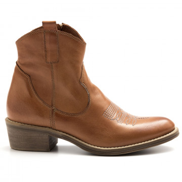 booties woman keb 950soft cuoio 4390