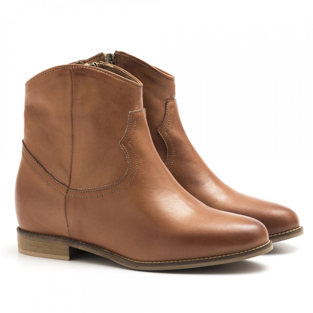 booties woman keb 090soft cuoio 4393