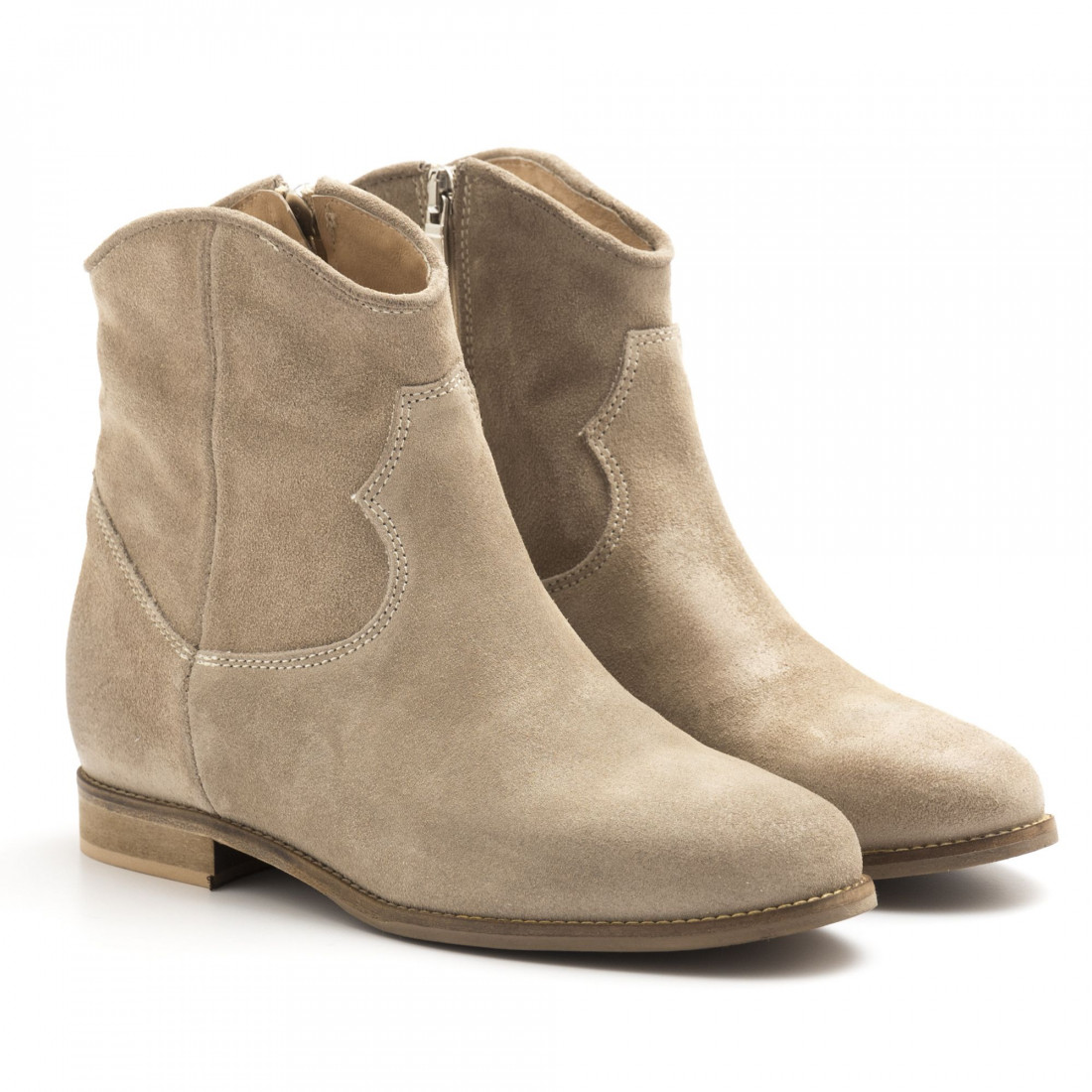 cdcf0b1359f1 Internal wedge Keb ankle boots in taupe suede