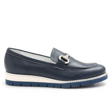 loafers woman alfredo giantin 6239pony blu 4444