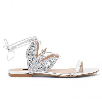 sandals woman patrizia pepe 2v8742 a5c0f1xe silver multi 4465