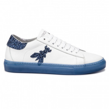 sneakers woman patrizia pepe 2v8807 a2gxj2dn white blue 4466