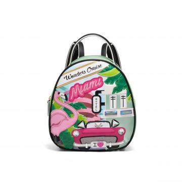 backpacks woman braccialini b12797cartoline 4320