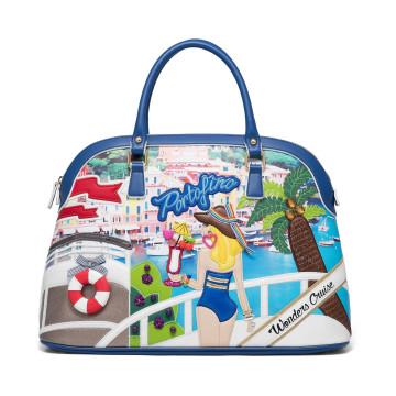 handbags woman braccialini b12790cartoline 4508