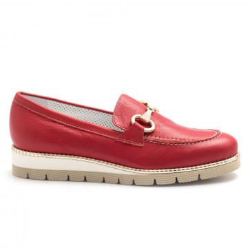 loafers woman alfredo giantin 6239pony rosso 4443