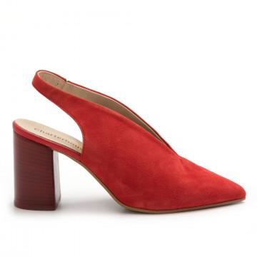 pumps woman charterhouse 6618camoscio rosso 4609