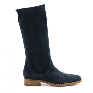 boots woman lorenzo masiero b4636234 velour blu  4536