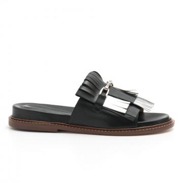 sandals woman lorenzo masiero s192730 nappa nero 4656