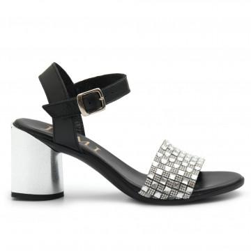 sandals woman jemi 405pelle nero arg 4689
