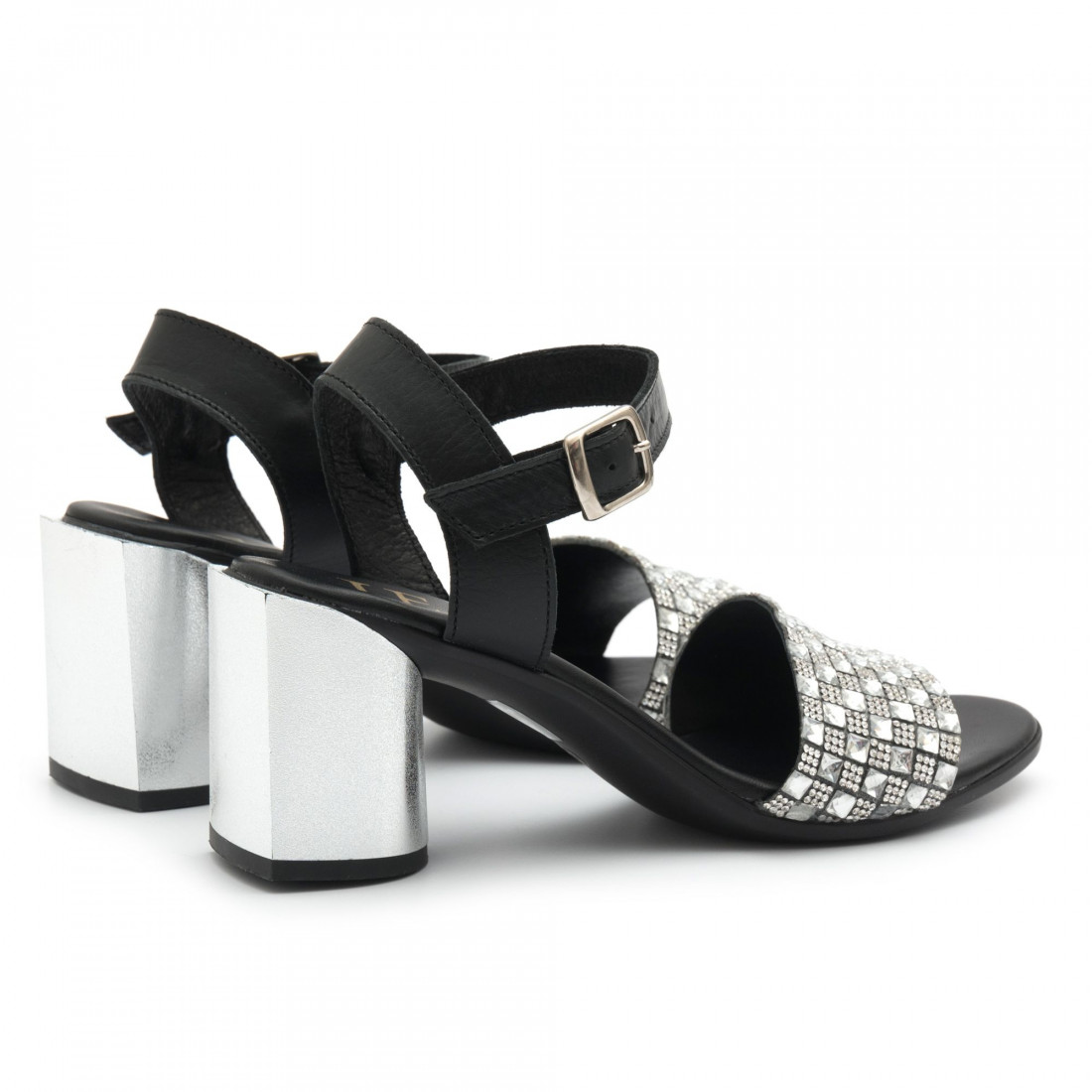sandals woman jemi 405pelle nero arg 4689