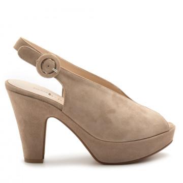 sandals woman silvia rossini 2110camoscio sabbia 4700