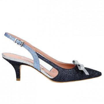 pumps woman roberto festa lorenzaglitter bleu 4725
