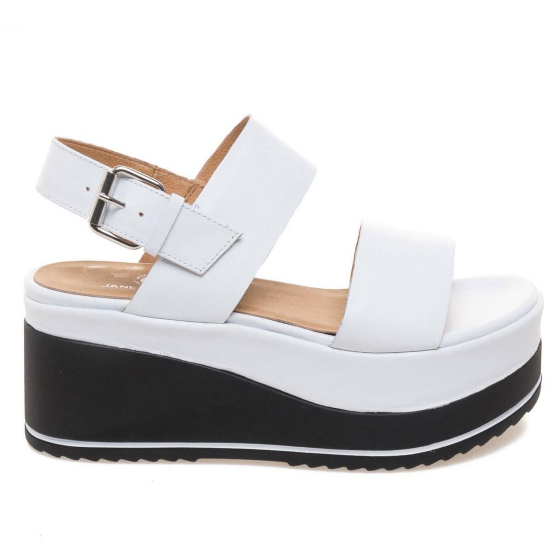 nuovo di zecca 65b3b 5511a White leather Janet Sport Natasha wedge sandals