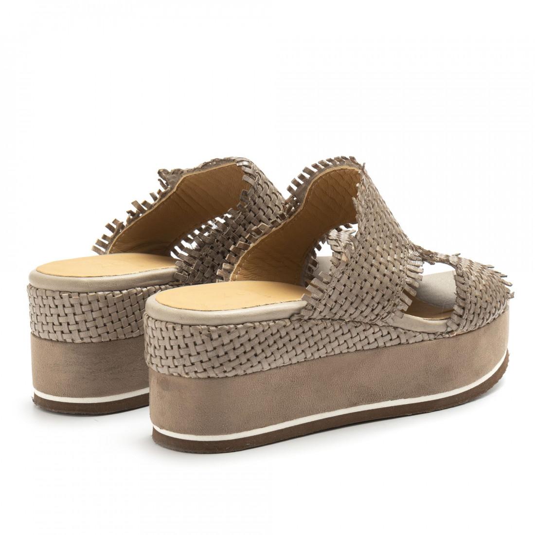 sandals woman zoe mary 054intreccio taupe 4836