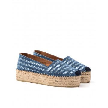 slipper damen fiorina  s 122 259 stripe blue navy 1370
