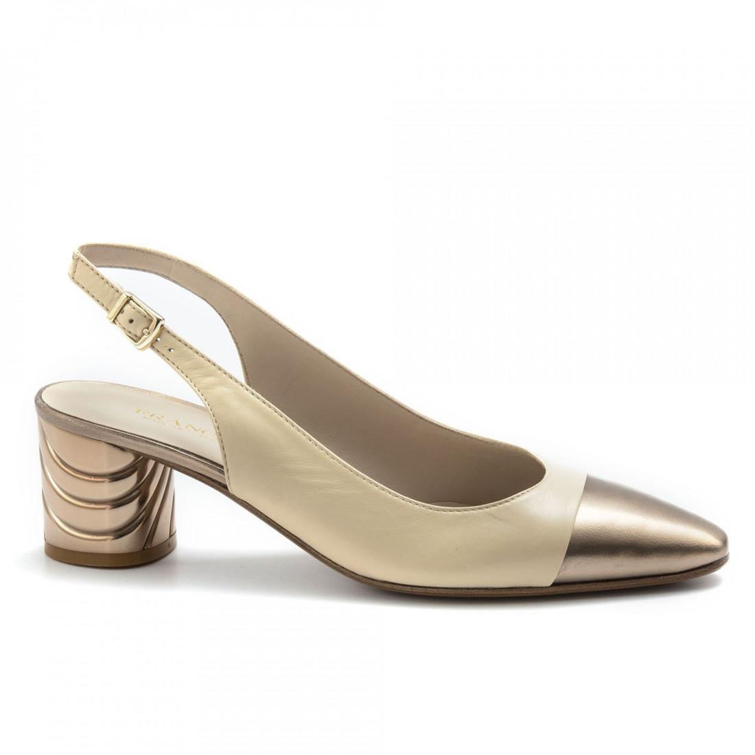 pumps woman franca 3709 617nappa beige opaco rame  4907