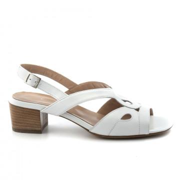 sandals woman cinzia valle 8310nappa bianca 4917