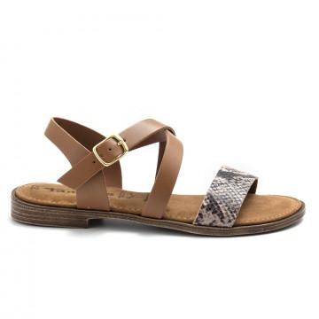 sandals woman tamaris 28183 32325 cognac snake 4905