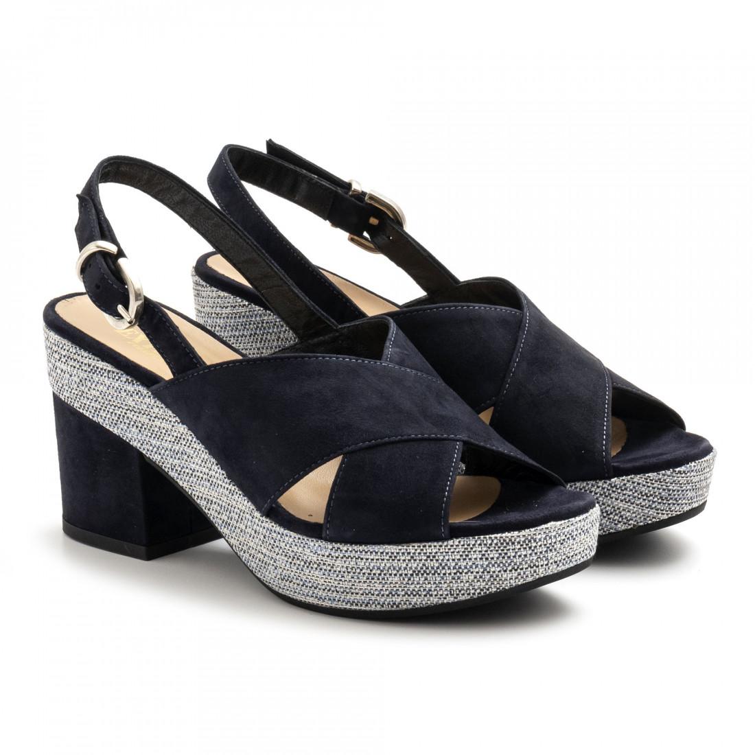 sandals woman extreme 2663camoscio blu 4915
