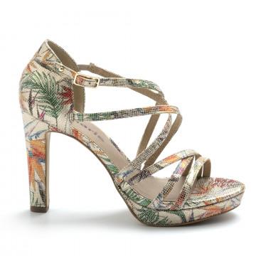 sandals woman tamaris 28038 32403 beige flower 4901