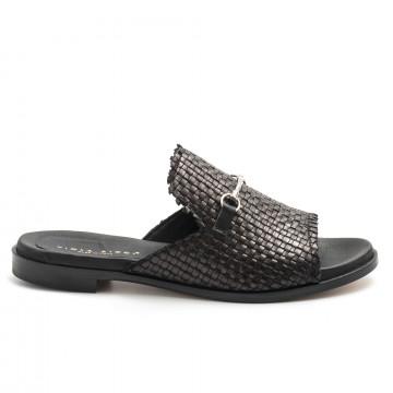 sandals woman viola ricci i16intreccio nero 4931