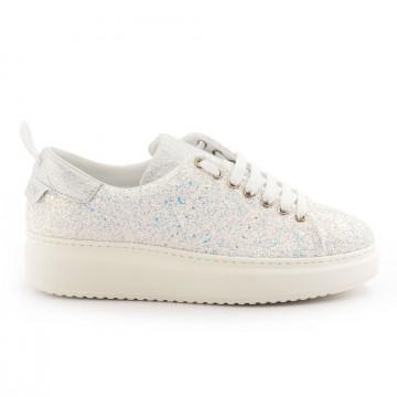 sneakers woman stokton burma glitter bianco 4806