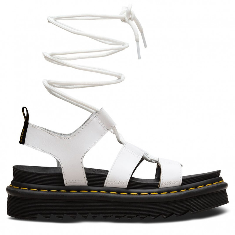 White Dr Martens Nartilla gladiator