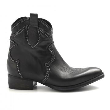 booties woman zoe new metal texcanguro blk 5016