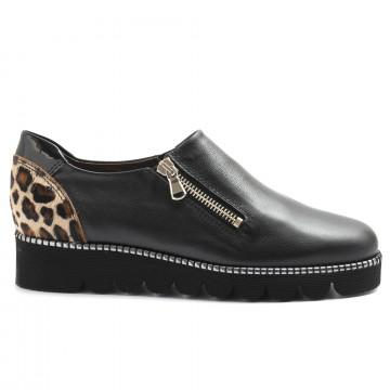 slip on woman alfredo giantin 6528pony nero 5128